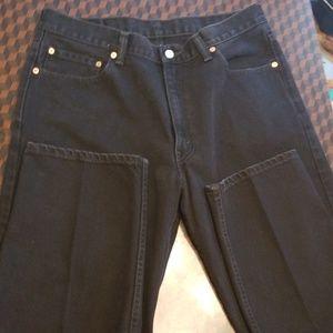 Levi 550 black jeans